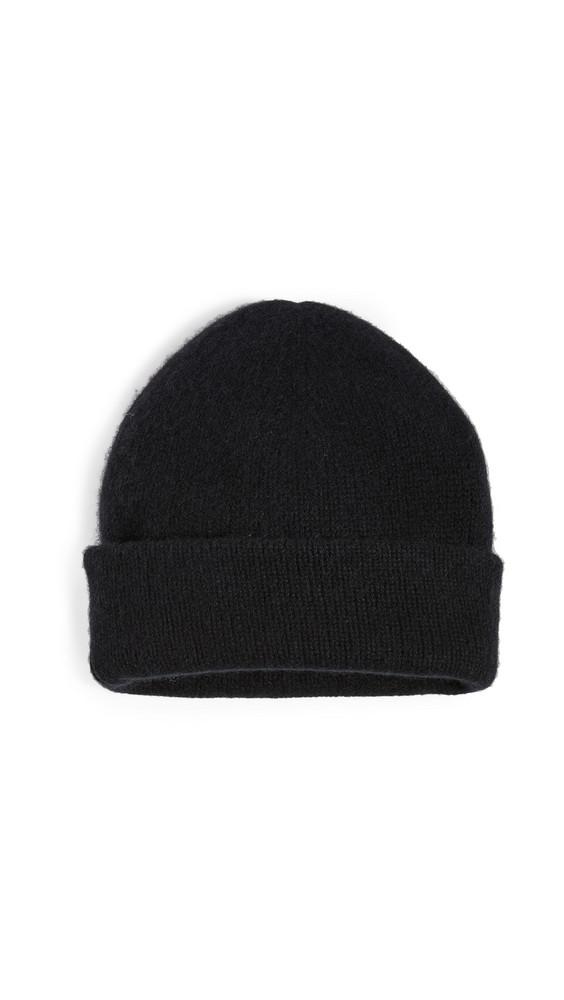 Naadam Cashmere Double Layer Beanie in black