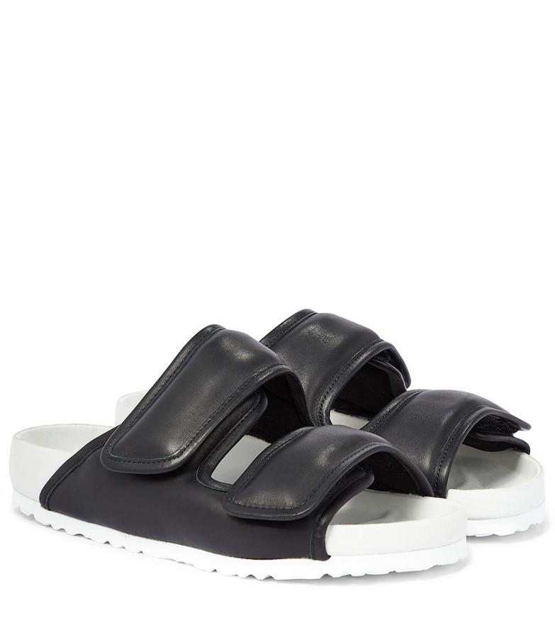 Birkenstock x CSM Cosy leather sandals in black