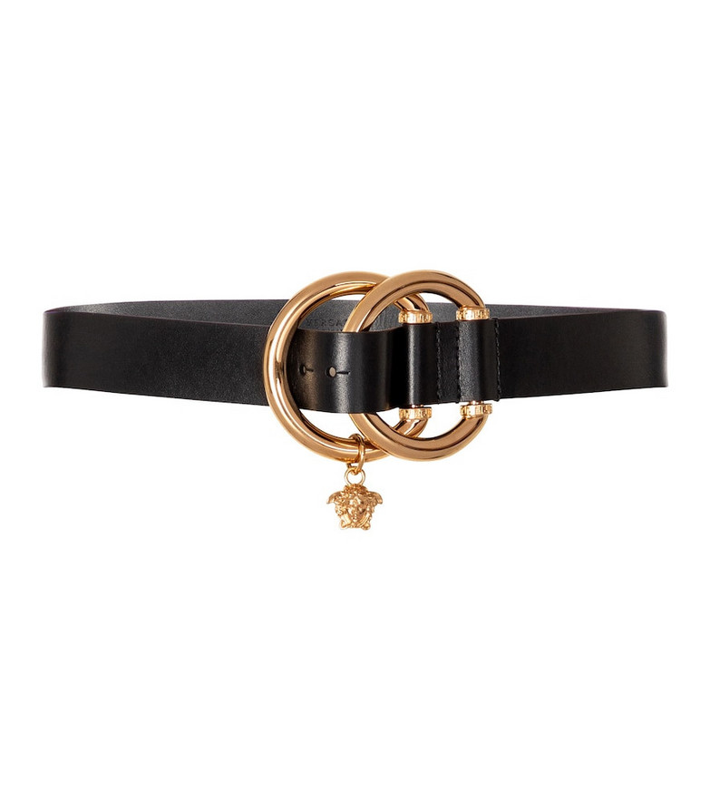 Versace Medusa leather belt in black