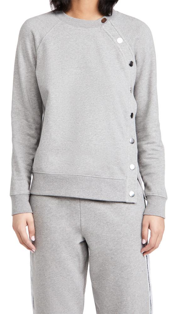 Derek Lam 10 Crosby Liana Sweatshirt with Snaps in grey