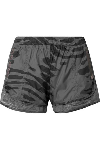 adidas by Stella McCartney - Run M20 Mesh-trimmed Printed Climastorm Shorts - Gray