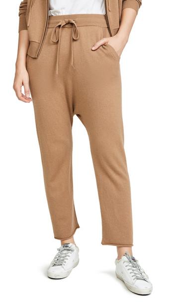 Nili Lotan Luna Cashmere Sweatpants in camel