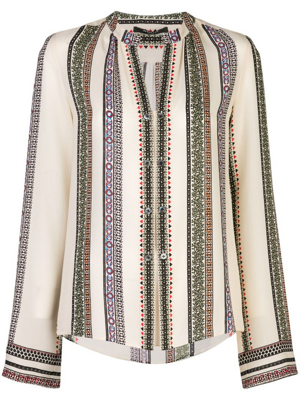 Derek Lam Provincal Kara striped blouse in white