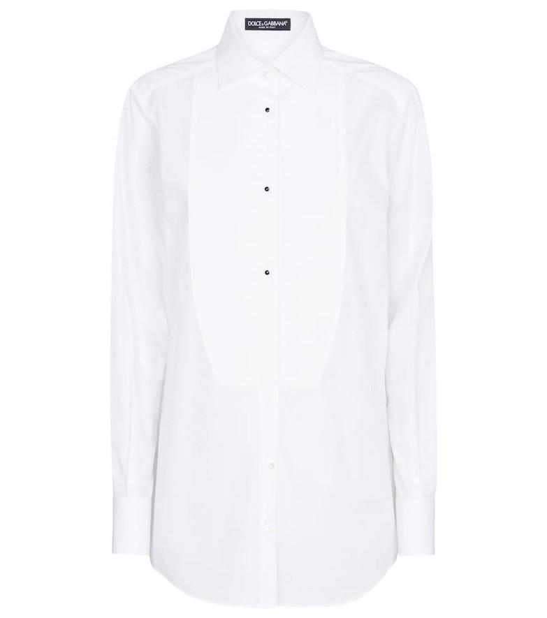 Dolce & Gabbana Cotton shirt in white