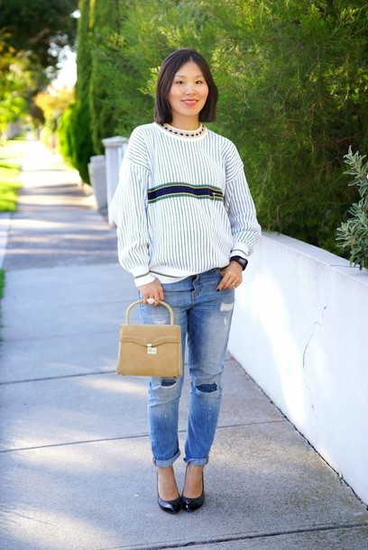 cecylia blogger sweater bag jeans shoes