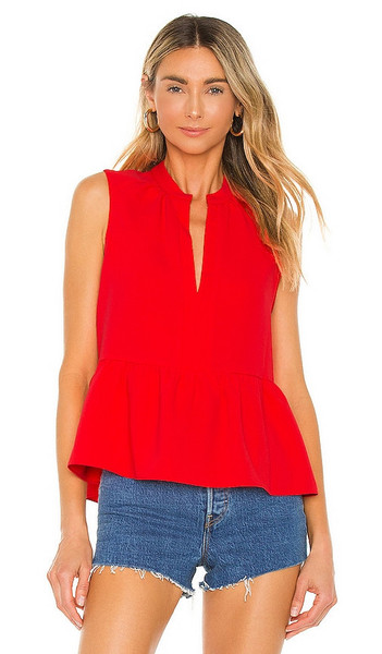 Amanda Uprichard Rylee Top in Red in crimson
