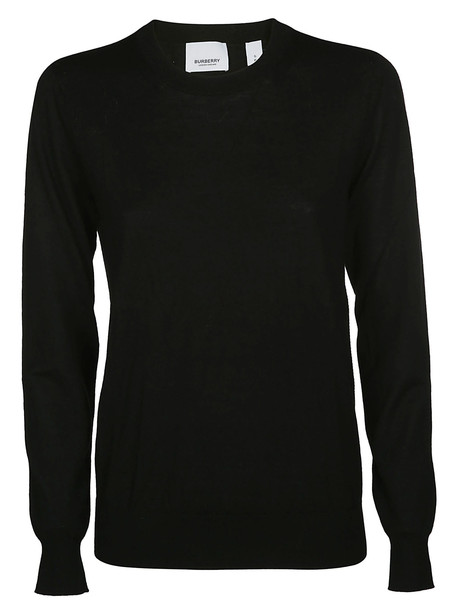 Burberry Round Neck Sweatshirt in black