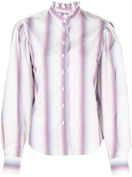 Isabel Marant Étoile ruffle-collar cotton shirt in pink