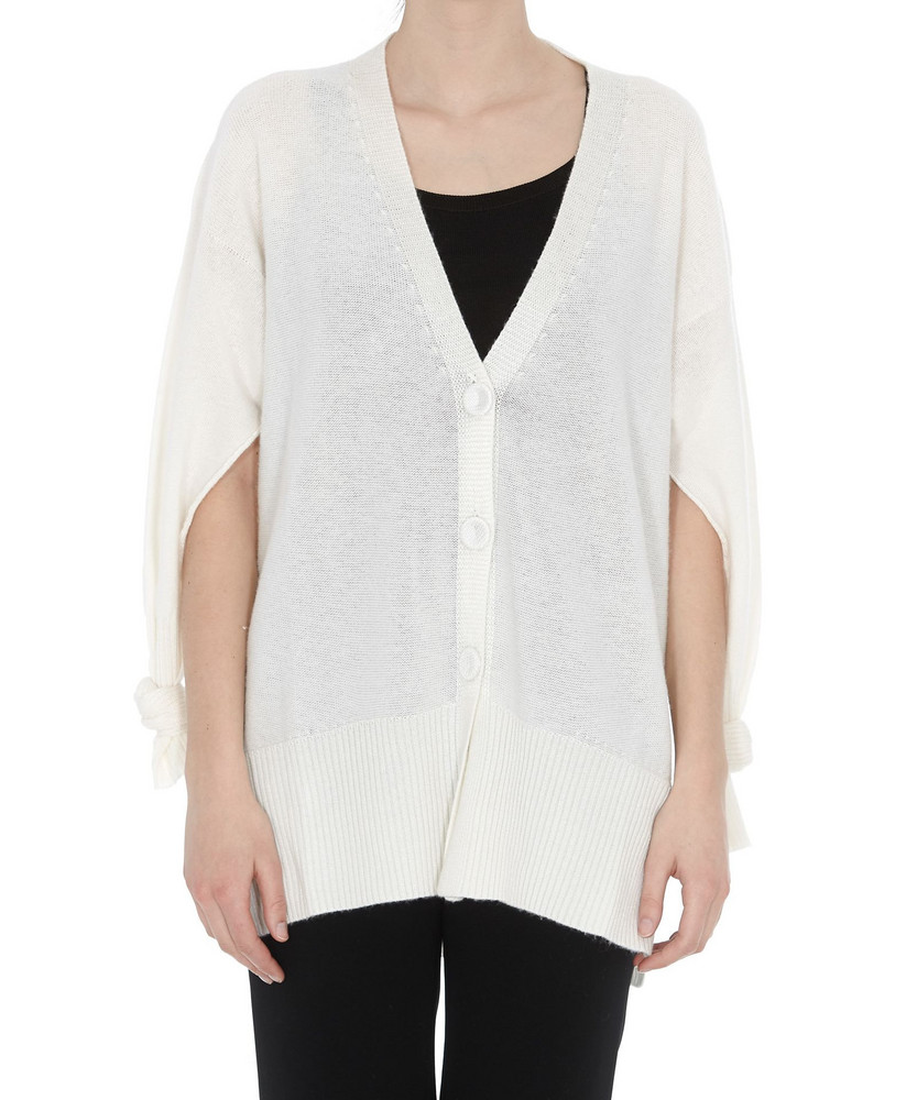 Maison Flaneur Cardigan in white