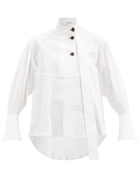 Palmer/harding Palmer//harding - Rhesus Cotton-blend Poplin Shirt - Womens - White