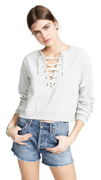 BB Dakota Tie It Together Sweatshirt in grey