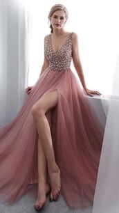 dress,amazon,pink,gems,gemstone,beaded