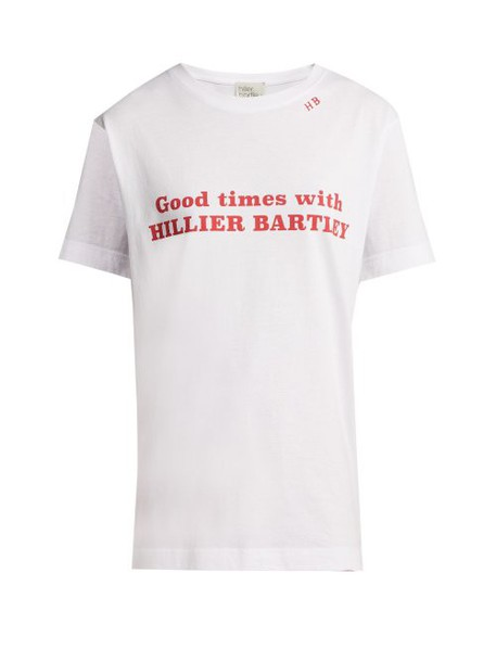 Hillier Bartley - Good Times Print Cotton T Shirt - Womens - White Multi