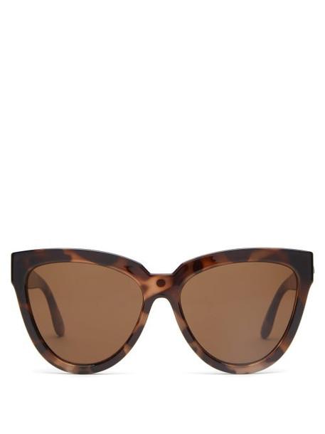 Le Specs - Liar Liar Oversized Cat Eye Sunglasses - Womens - Brown