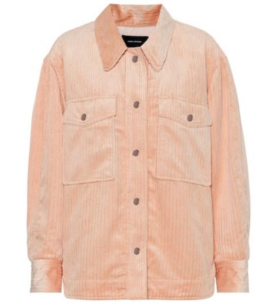 Isabel Marant Marvey corduroy jacket in pink