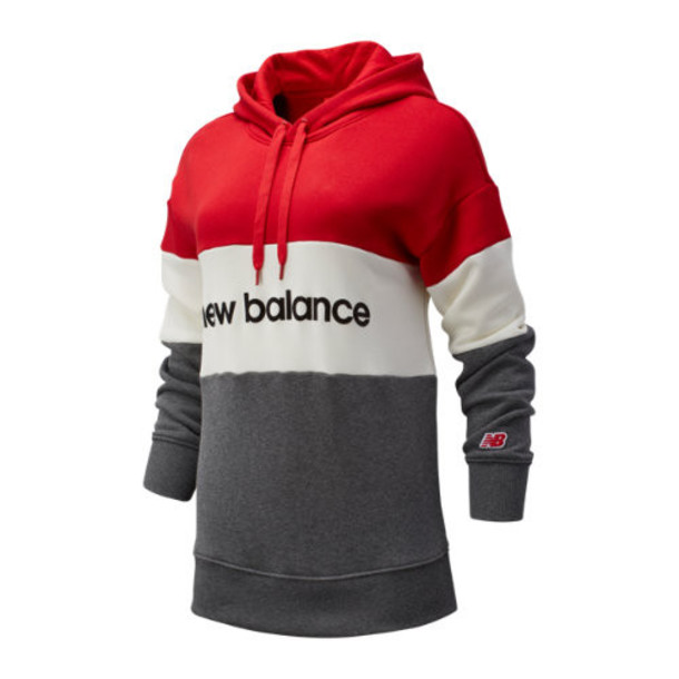 New Balance 93532 Women's NB Athletics Stadium Hoodie - Red/Off White/Grey (WT93532REP)