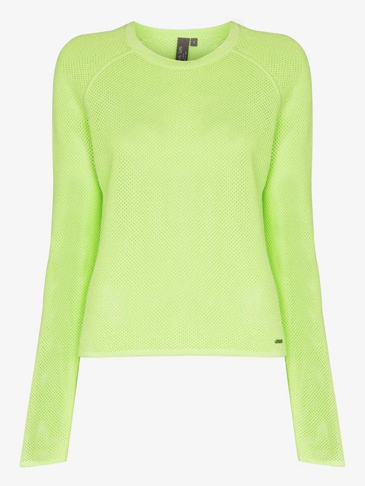 Sweaty Betty Idol mesh jumper in green