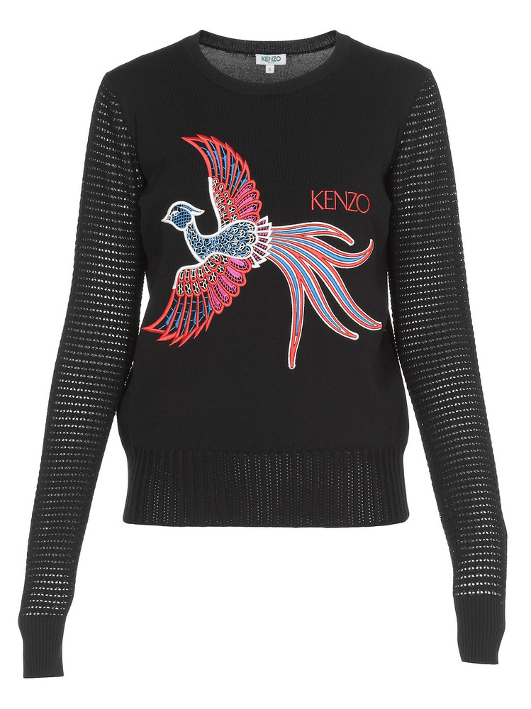 Kenzo Front Embroider Sweater in black