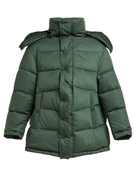 Balenciaga - New Swing Puffer Jacket - Womens - Dark Green