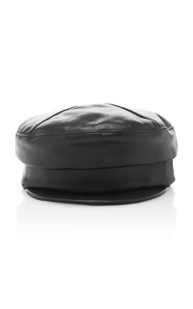 Gigi Burris Georgie Leather Hat in black