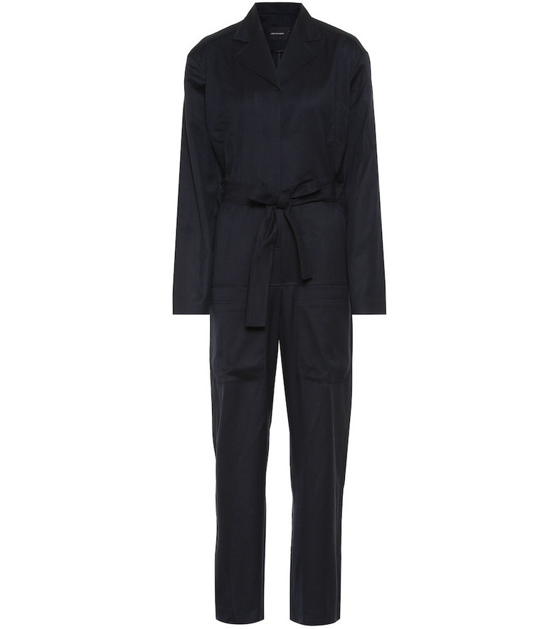 Low classic Wool jumpsuit in blue