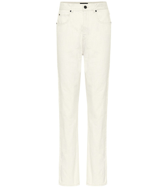 Isabel Marant Dustin high-rise straight jeans in white