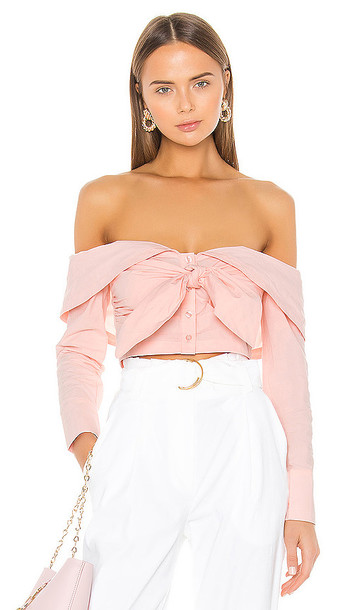 L'Academie The Jasmine Top in Pink