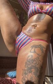 swimwear,stripes,pink,rainbows