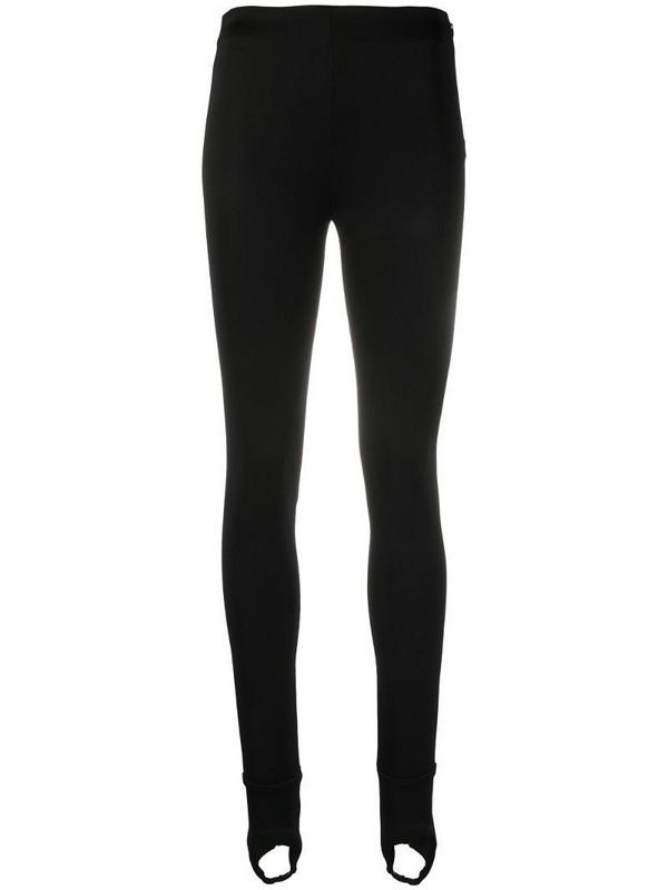 Prada stirrup-cuff skinny trousers in black