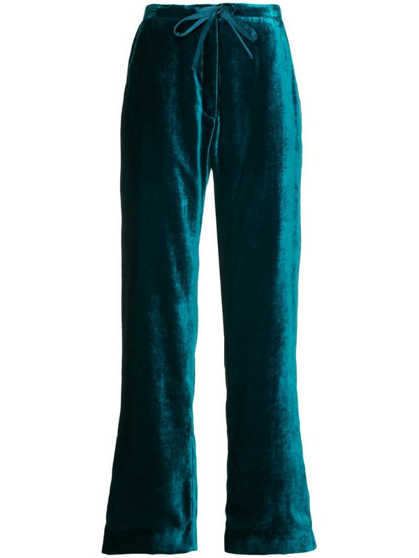 Mira Mikati velvet pyjama trousers in blue
