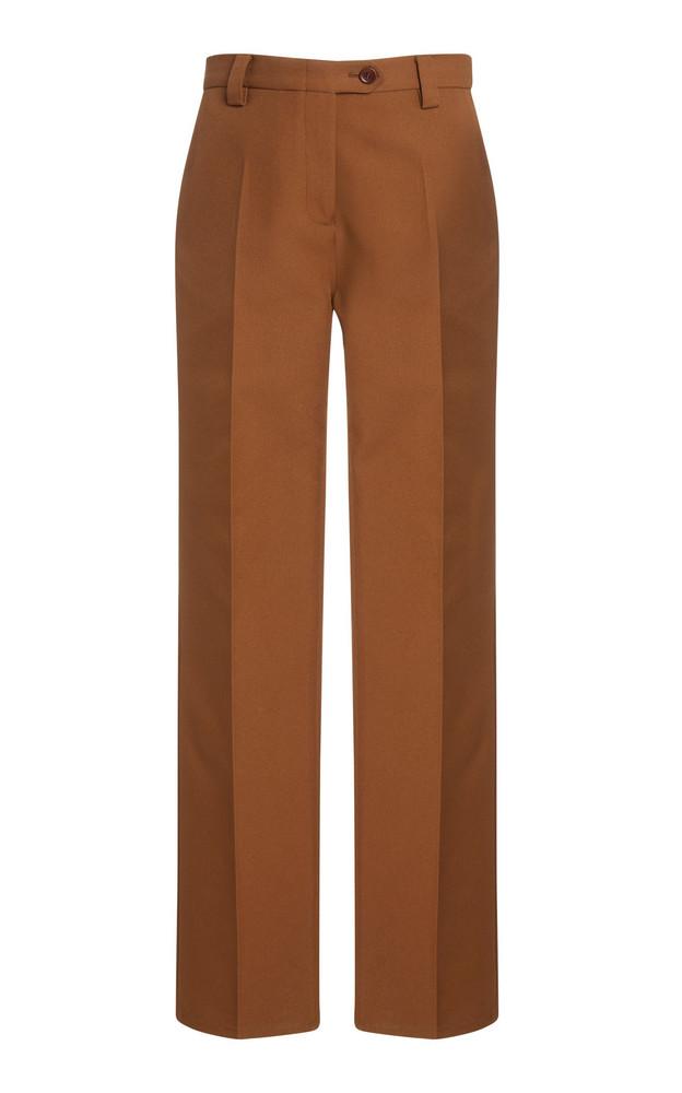 Wales Bonner Dub Crepe Slim-Leg Pants in green