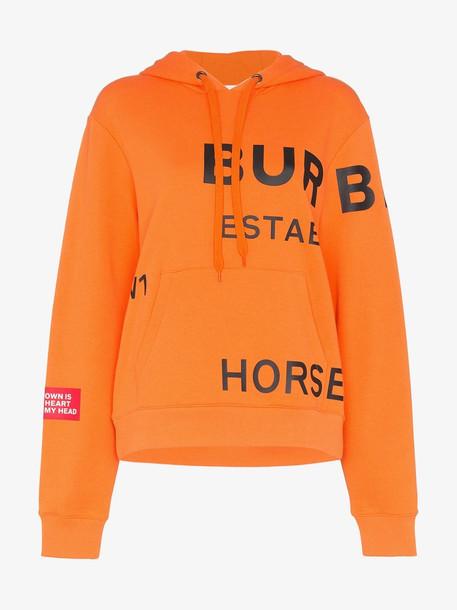 Burberry horseferry logo hoodie in orange