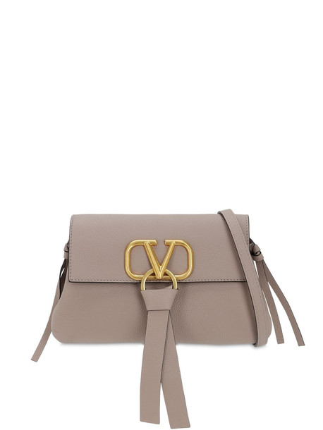 VALENTINO GARAVANI Small V Ring Grained Leather Bag