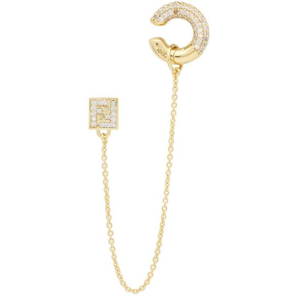 Fendi Gold FendiOops Earring