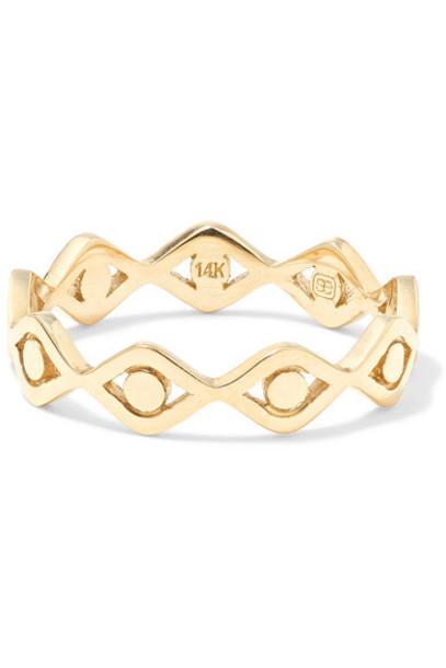 Sydney Evan - Evil Eye 14-karat Gold Ring