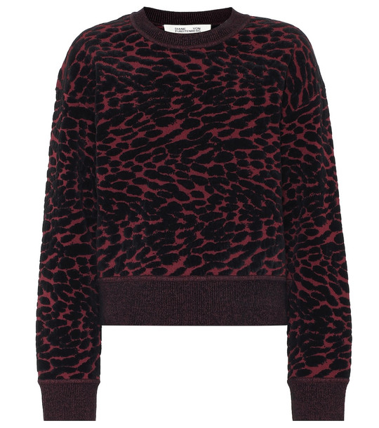 Diane von Furstenberg Cassia cotton-blend sweater in red