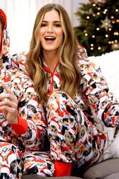 pants,christmas,celebrity,instagram,jojo fletcher,cats,pajamas,jumpsuit