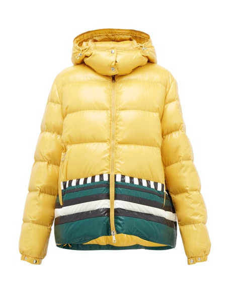 1 Moncler Pierpaolo Piccioli - Gabrielle Striped Down-filled Jacket - Womens - Yellow Multi