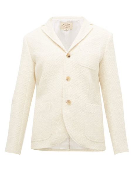 Holiday Boileau - Single Breasted Bouclé Jacket - Womens - Ivory