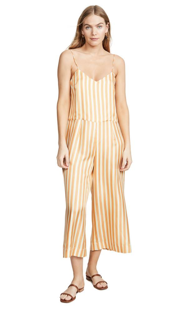 La Prestic Ouiston Paulette Striped Jumpsuit in orange