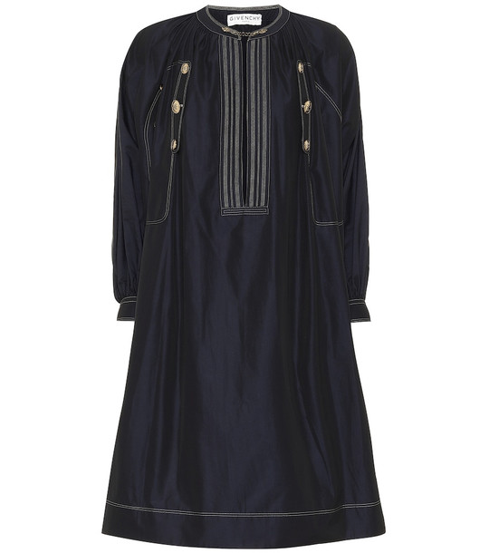 Givenchy Cotton poplin midi dress in blue
