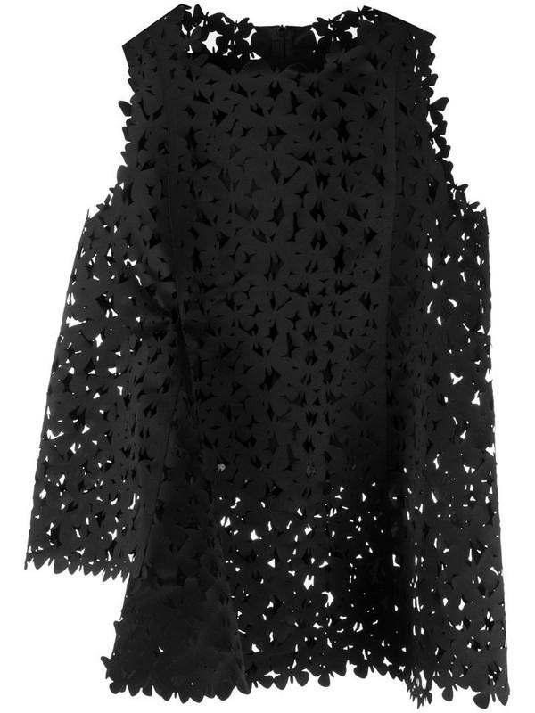 Paskal Butterfly laser-cut top in black