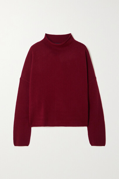 Lisa Yang - Sandy Cashmere Sweater - Burgundy