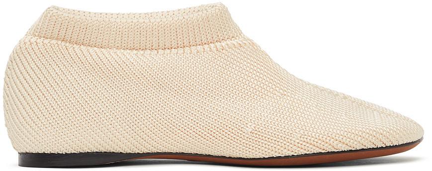 Proenza Schouler Off-White Rondo Knit Slippers in ecru