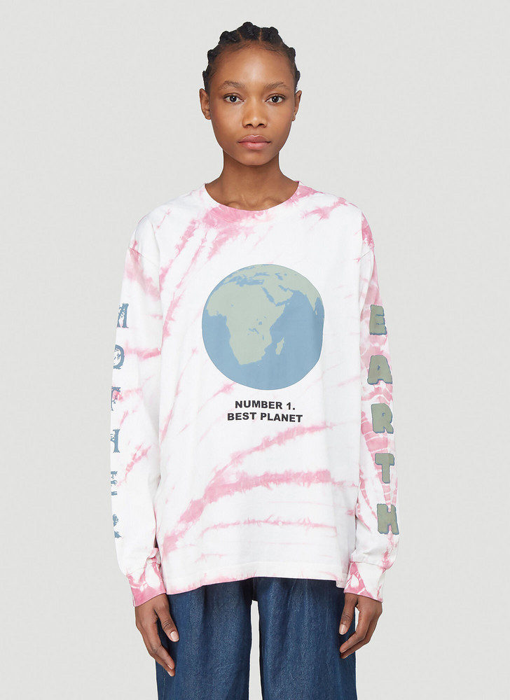 Story Mfg. Story Mfg. Grateful Long-Sleeved T-Shirt in Pink size L