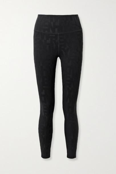 TWENTY Montréal - Dna 3d Stretch Jacquard-knit Leggings - Black
