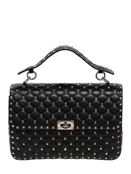 VALENTINO Spike Embellished Leather Bag in black