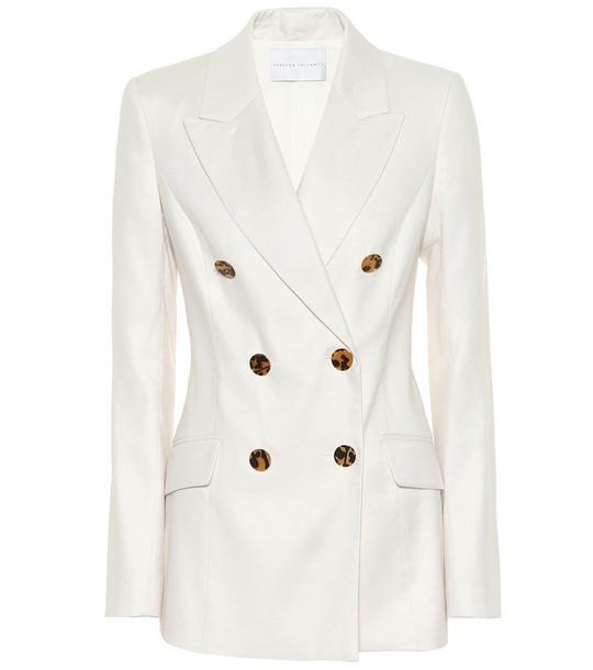 Rebecca Vallance Taylor linen-blend blazer in white