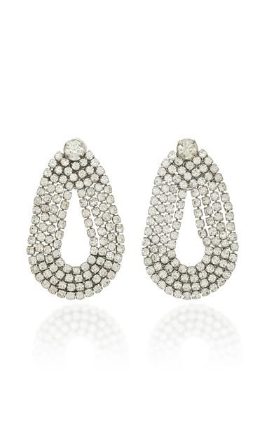 Lulu Frost Quixotic Crystal Earrings in silver