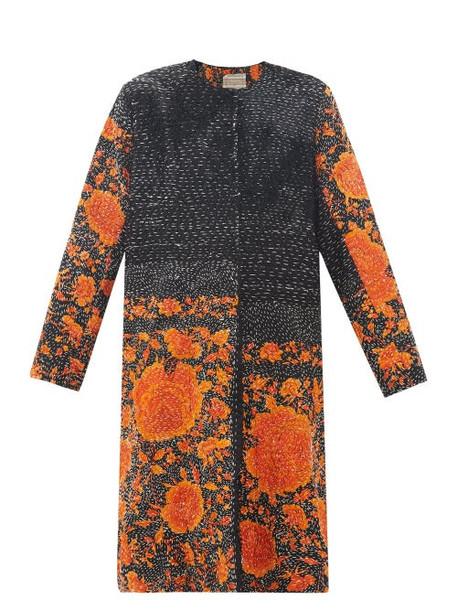 By Walid - Tanita 19th-century Silk Coat - Womens - Black Orange